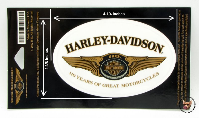 Harley Davidson 110th Anniversary Oval Decal Made in USA