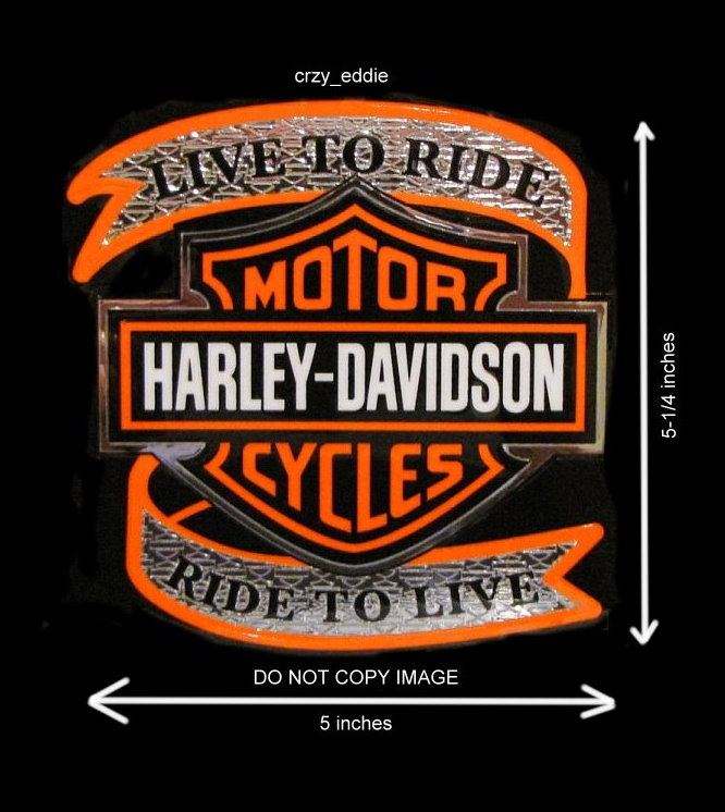 Harley Davidson Motorcycle Live To Ride Decal Made In