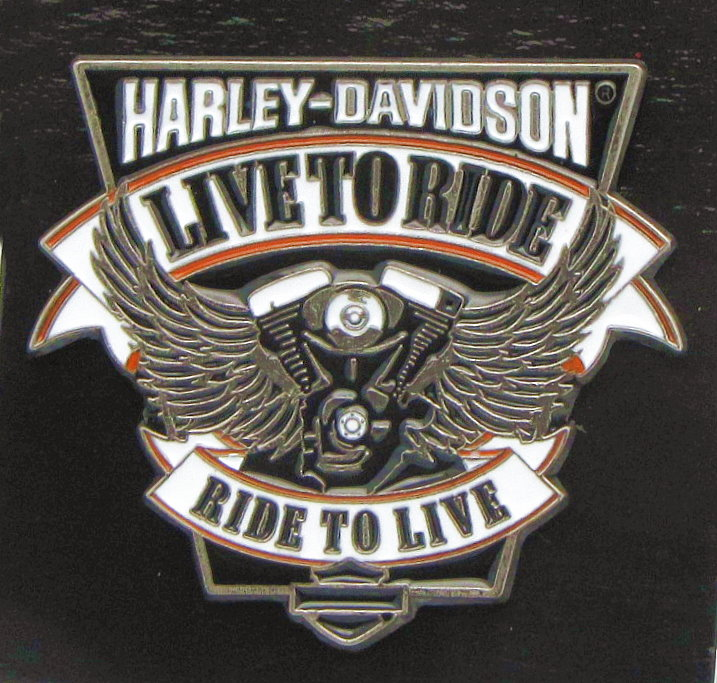 Harley Davidson Live To Ride Ride To Live Pin V Twin