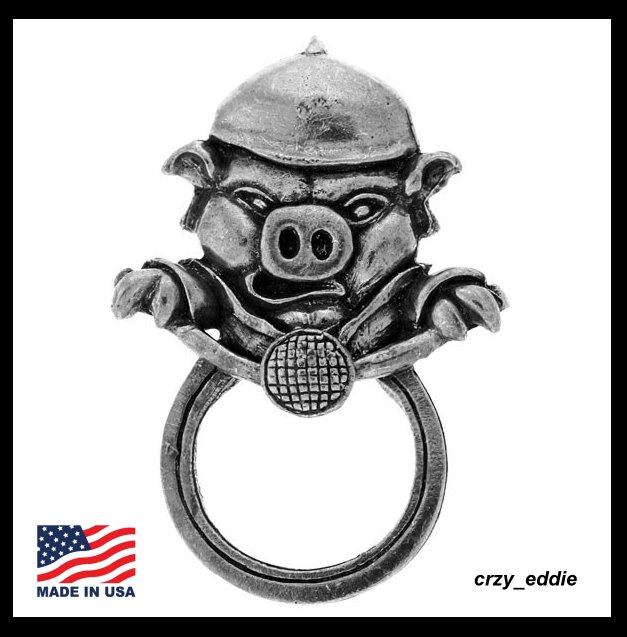 HOG ON MOTORCYCLE PIG BIKER PIN WITH SUNGLASS HOLDER